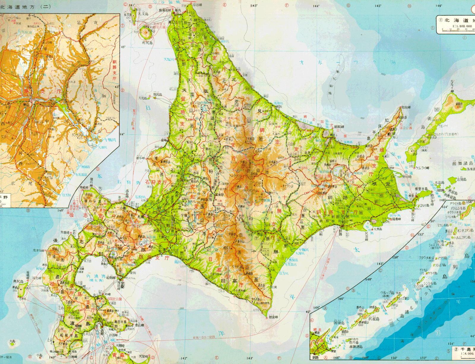 hokkaido_map1984ss 1971年の北海道地図|天北線・羽幌線・名寄本線・標津線・